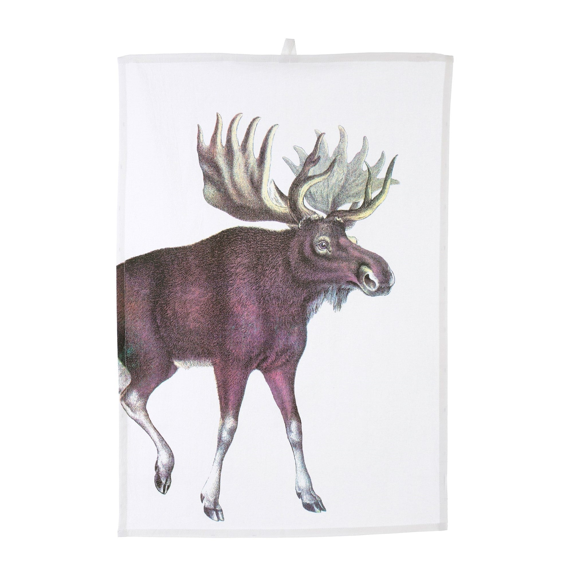 Arctic Animals Tea Towel - Moose - Putti Fine Furnishings Canada