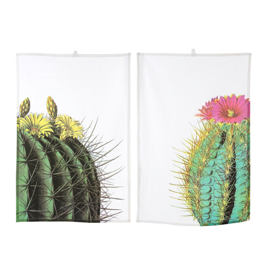 Cacti Tea Towel - Yellow