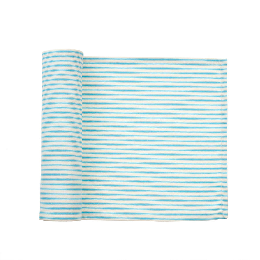 French Ticking Table Runner - Blue