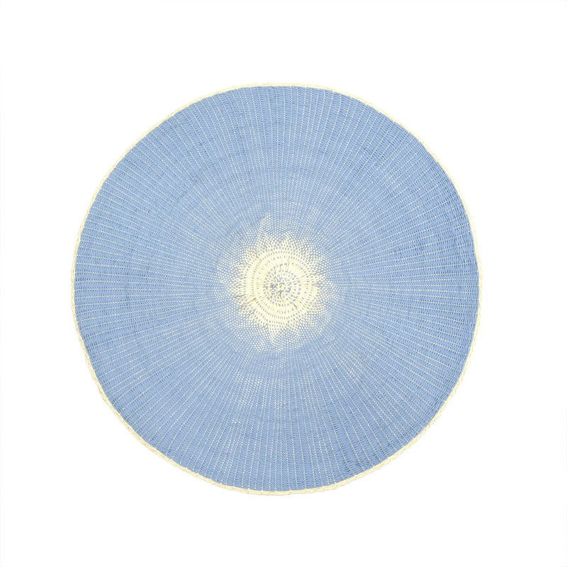 Willa Woven Placemat - Light Blue