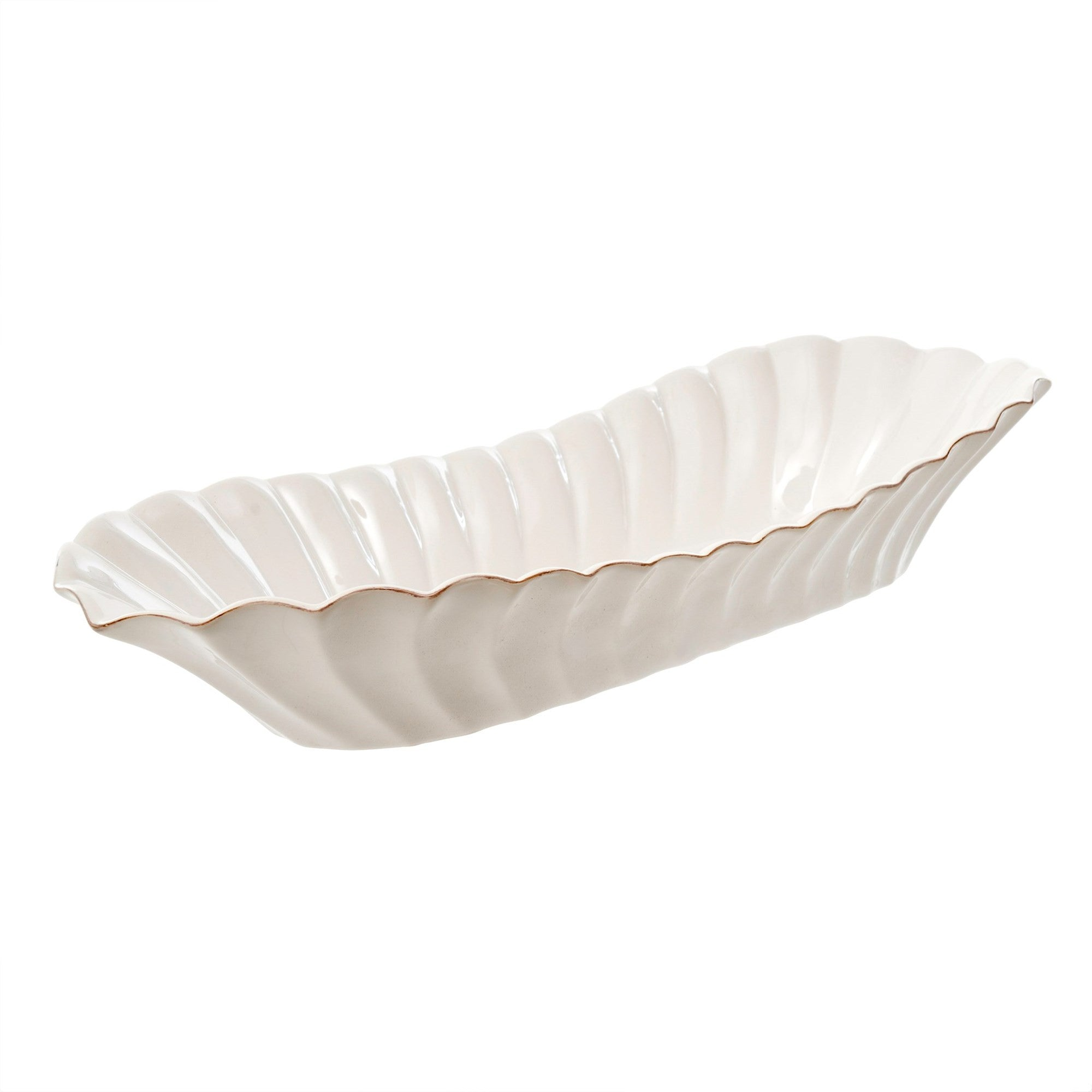 Roma Scalloped Serving Dish, IT-Indaba Trading, Putti Fine Furnishings