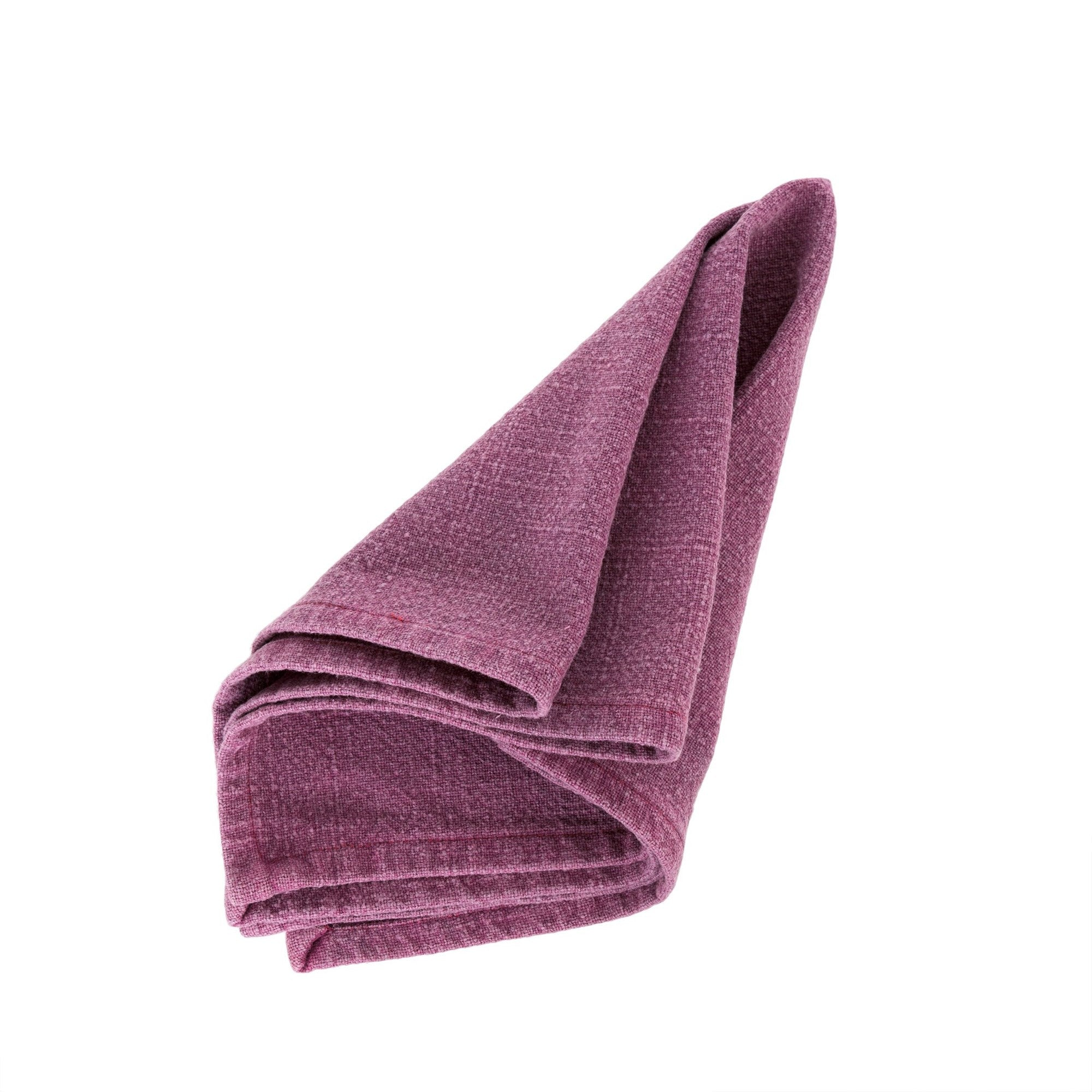 Stonewashed Napkin - Maroon -  Soft Furnishings - Indaba Trading - Putti Fine Furnishings Toronto Canada