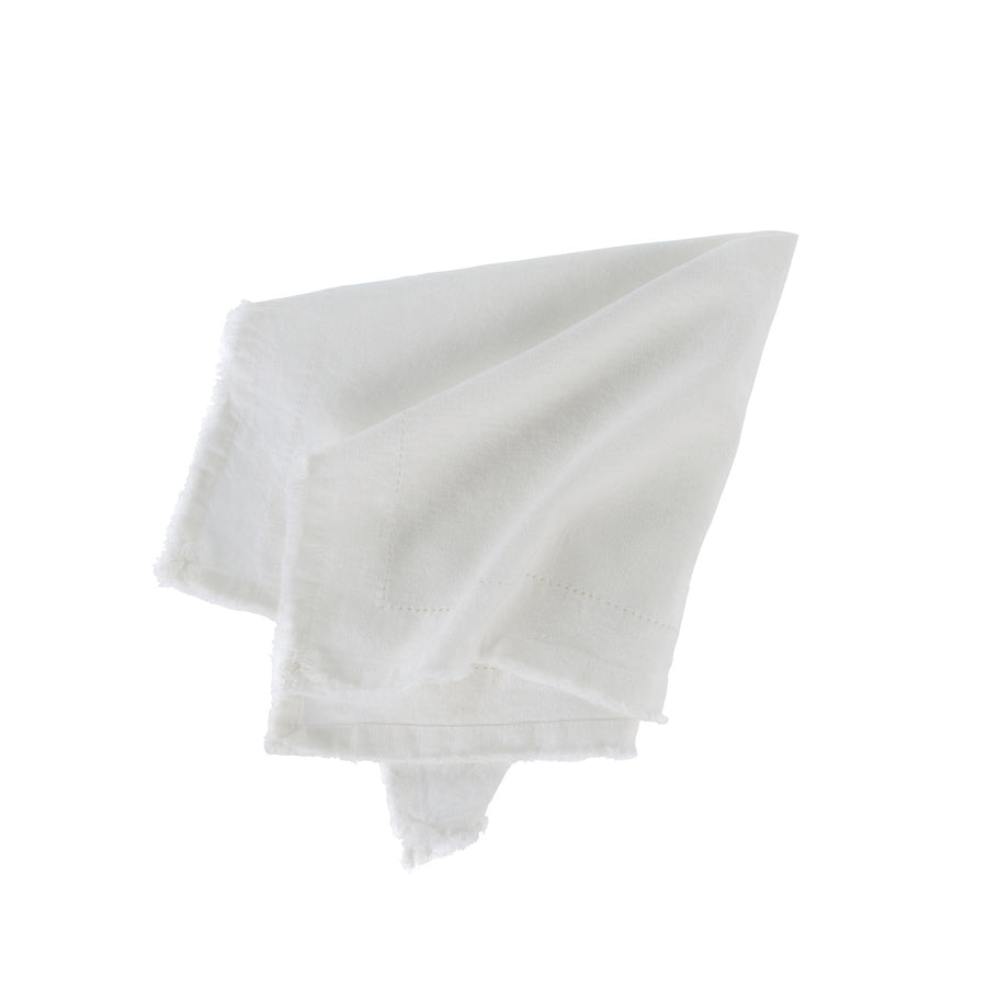 Frayed Edge Napkin - Ivory