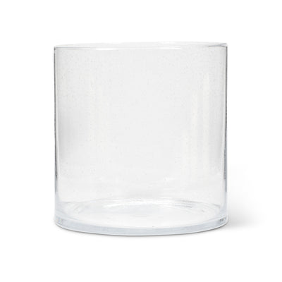 Seeded Glass Cylinder Vase - Extra Large -  Accessories - Abbot Collection - Putti Fine Furnishings Toronto Canada - 1