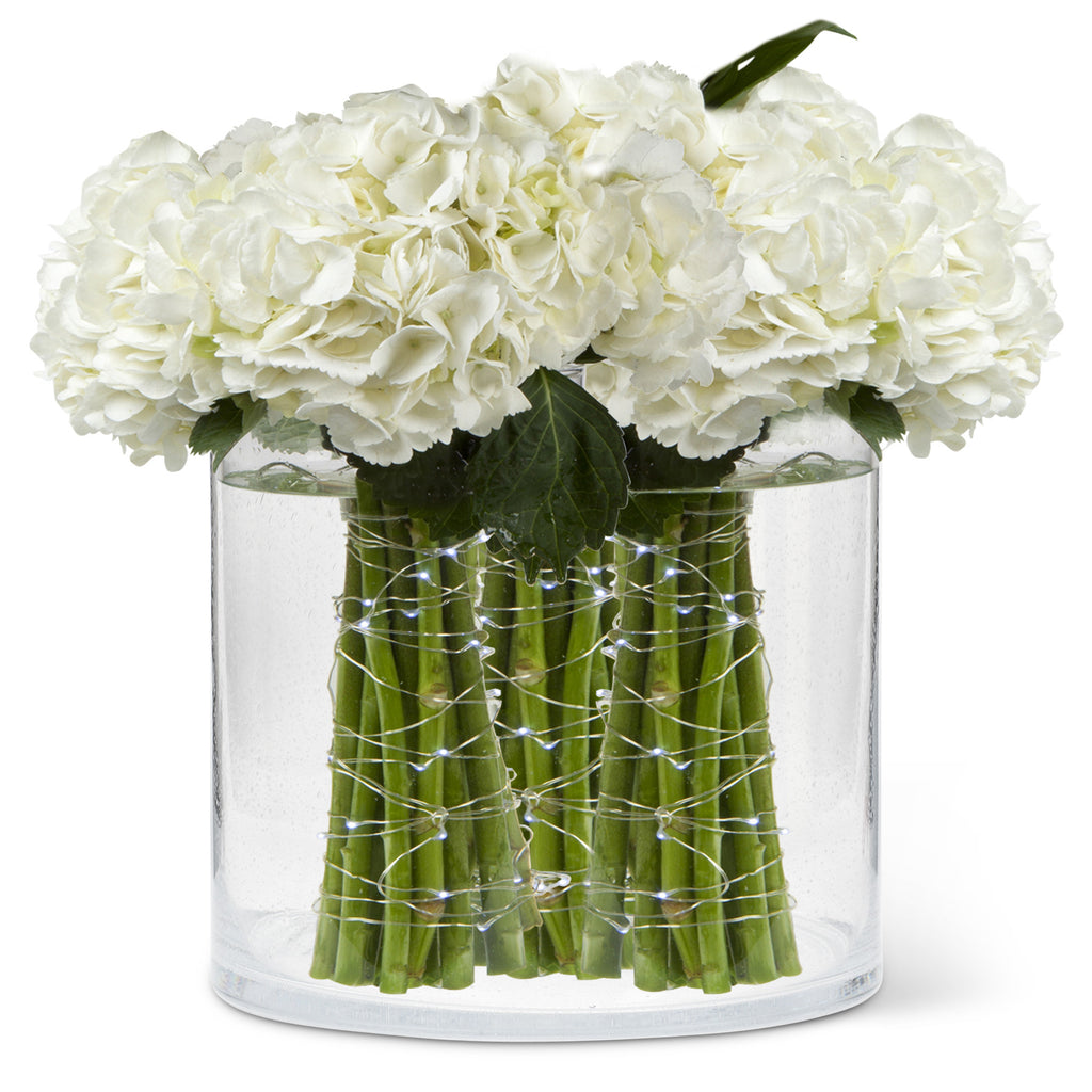 Seeded Glass Cylinder Vase - Extra Large -  Accessories - Abbot Collection - Putti Fine Furnishings Toronto Canada - 3