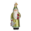 Old World Christmas Blooming Santa Glass Ornament -  Christmas Decorations - Old World Christmas - Putti Fine Furnishings Toronto Canada - 1