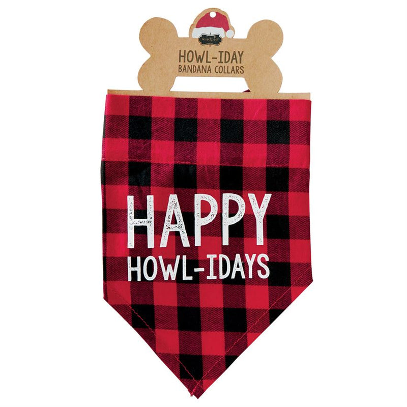 Buffalo Check Holiday Dog Bandana