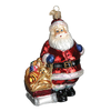 Old World Christmas Santa with Toy Sled Glass Ornament, OWC-Old World Christmas, Putti Fine Furnishings