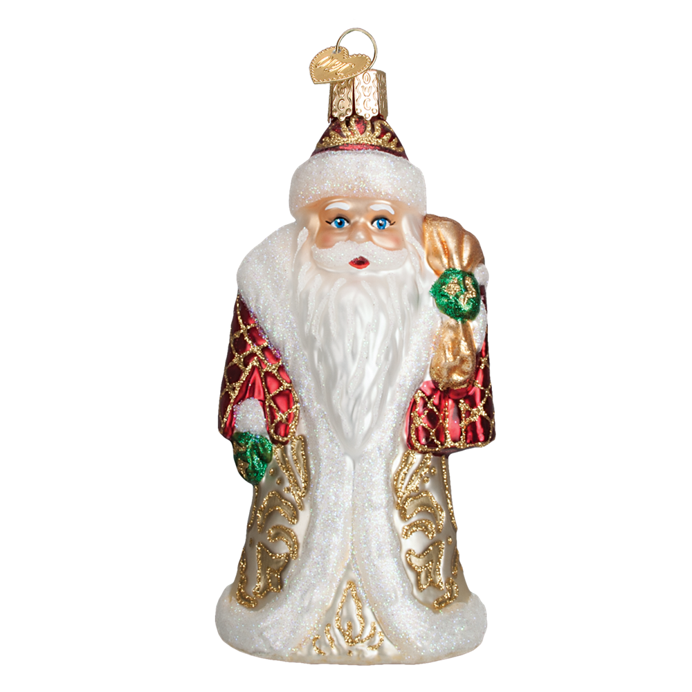 Old Word Christmas Baltic Santa Glass Ornament -  Christmas Decorations - Old World Christmas - Putti Fine Furnishings Toronto Canada - 1
