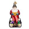 Old Word Christmas Carolling Santa Glass Ornament, OWC-Old World Christmas, Putti Fine Furnishings