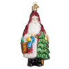 Old World Christmas Woodland Father Christmas Glass Ornament | Putti