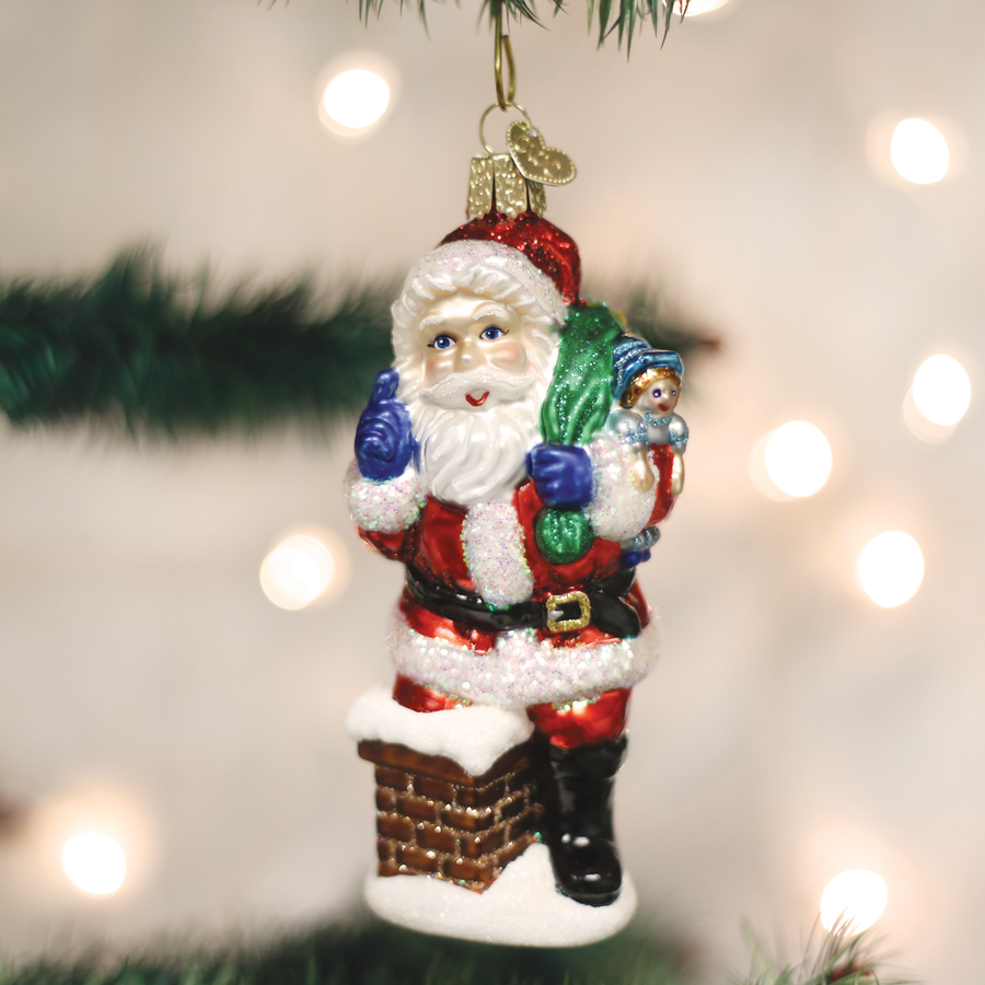 Old World Christmas Better Be Nice Santa Glass Ornament