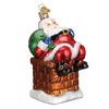 Old World Christmas Chimney Stop Santa Christmas Ornament, OWC-Old World Christmas, Putti Fine Furnishings