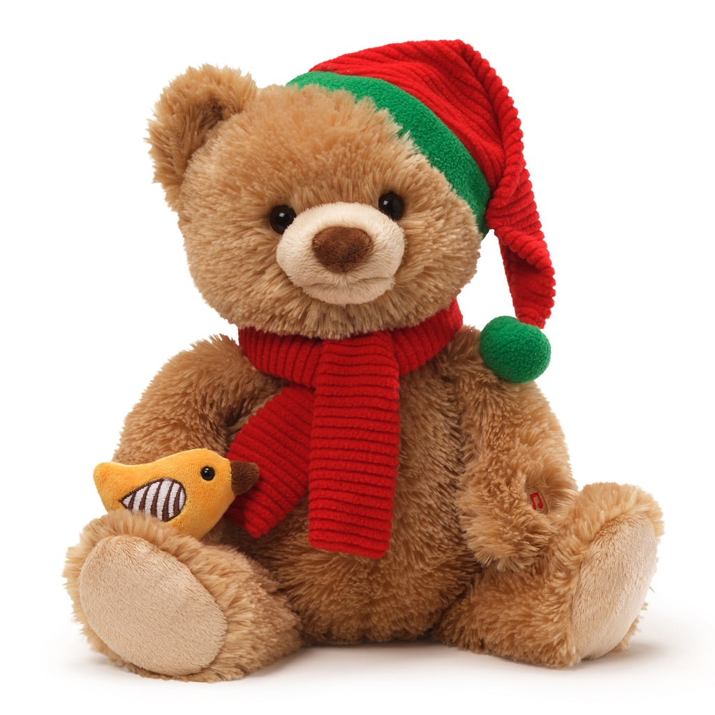 "Singing ""Twelve Days of Christmas""Teddy Bear-Plush Toys-Gund-Putti Fine Furnishings"