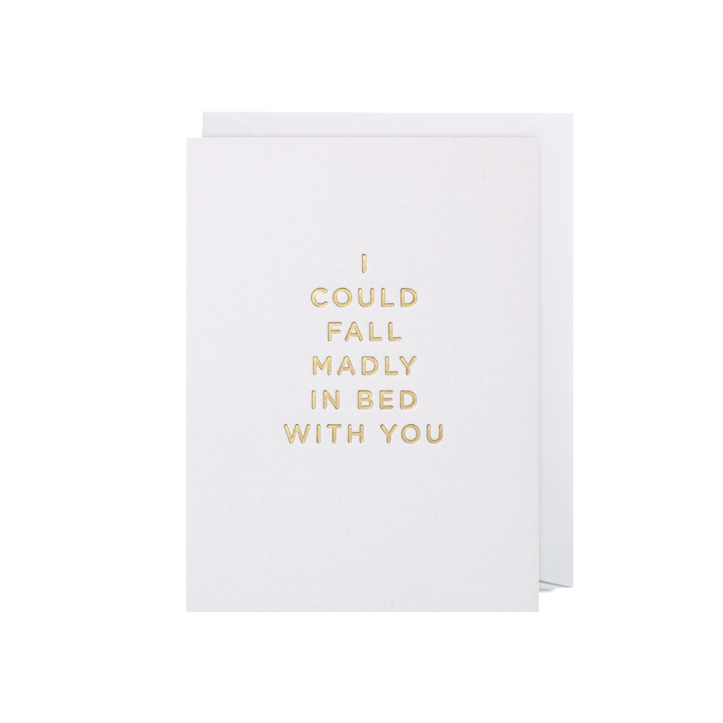 I Could Fall Madly In Bed With You Mini Card, PEC-Paper E Clips - Lagom Design, Putti Fine Furnishings
