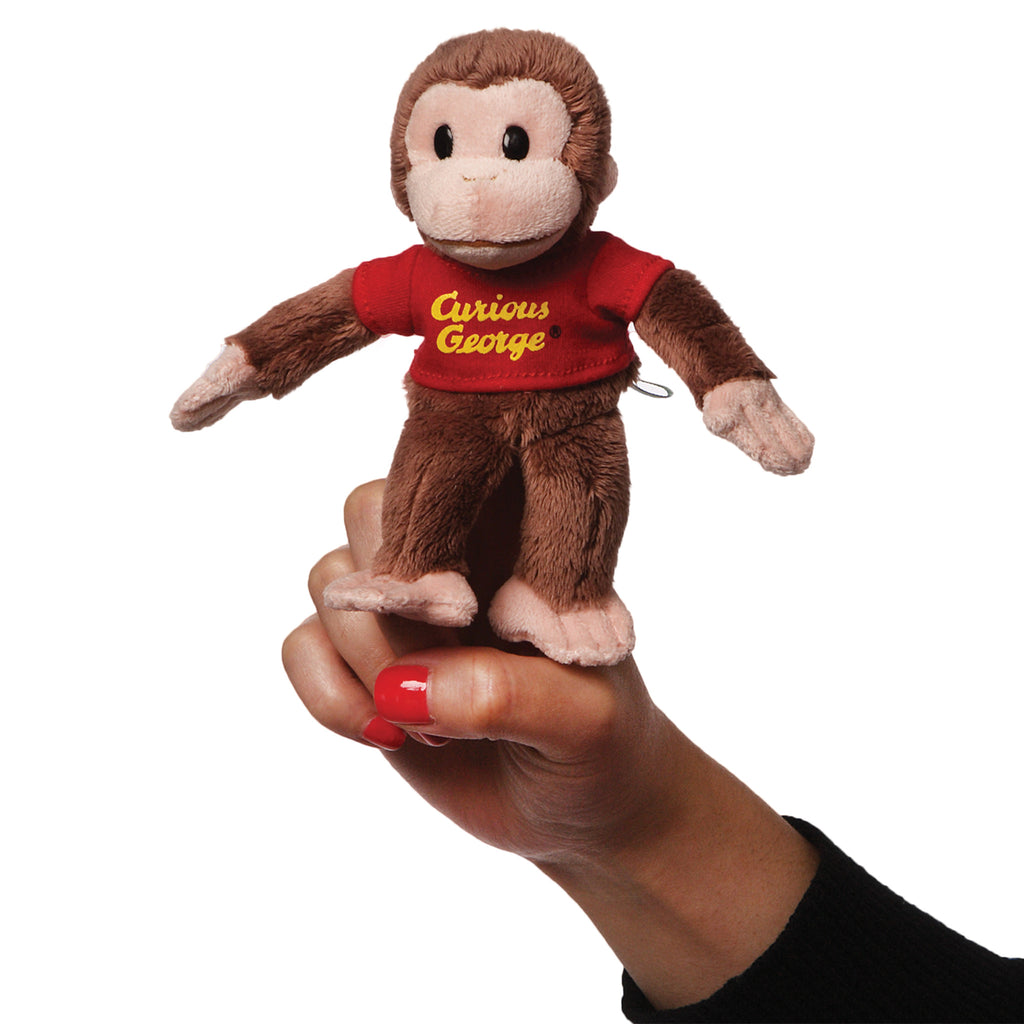 Curious George Finger Puppet-Plush Toys-Gund-Putti Fine Furnishings