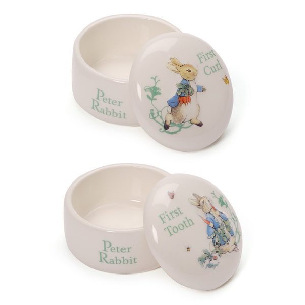 Baby Gund - Peter Rabbit First Curl / First Tooth Set-Children's Giftware-EC-Enesco Canada-Putti Fine Furnishings