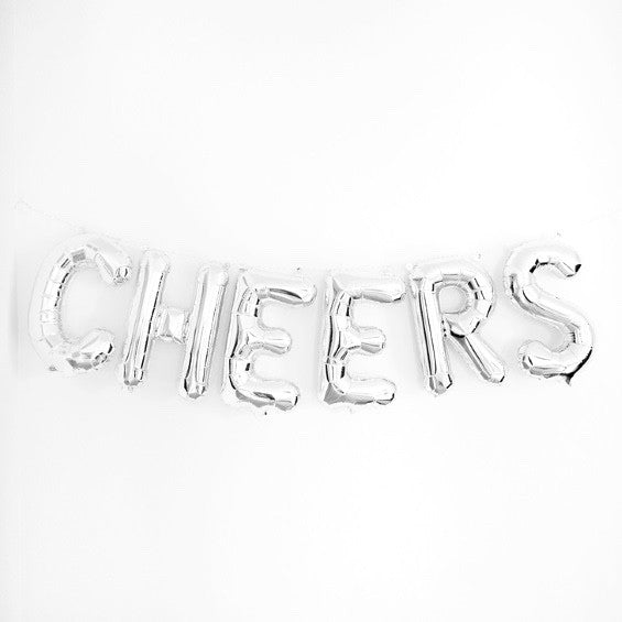 "Silver Foil ""Cheers"" Balloon Banner"