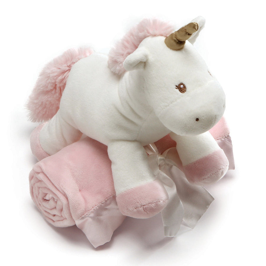 Gund Luna Unicorn Soft Toy with Blanket, EC-Enesco Canada, Putti Fine Furnishings