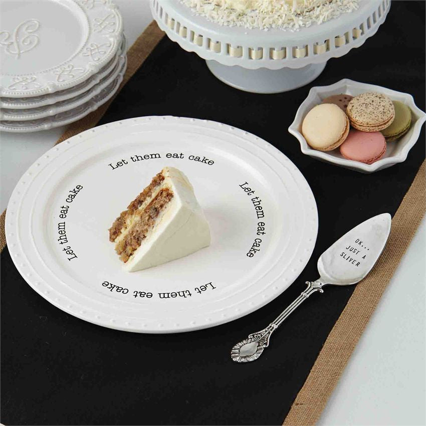 """Let Them Eat Cake"" Cake Plate Set"