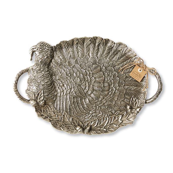 Metal Turkey Serving Tray, MP-Mud Pie, Putti Fine Furnishings