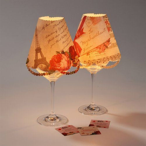 Love Talk Wine Glass Lamp Shades, TT-Talking Tables, Putti Fine Furnishings