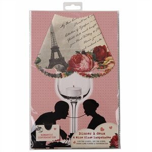 Love Talk Wine Glass Lamp Shades