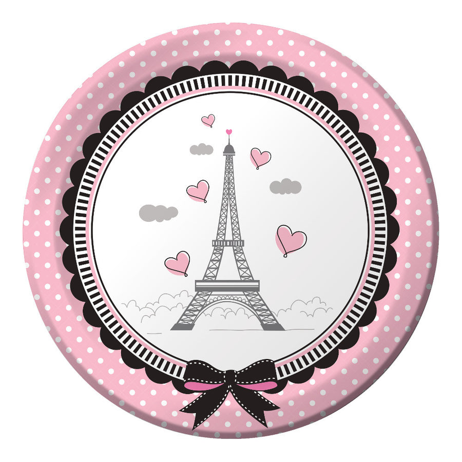 """Party in Paris"" Paper Plates, CC-Creative Converting, Putti Fine Furnishings"