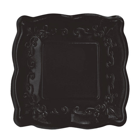 Square Black Embossed Dinner Plates-Party Supplies-CC-Creative Converting-Putti Fine ...  sc 1 st  Putti Fine Furnishings & Paper Plates - Party Supplies \u0026 Partyware - Le Petite Putti Canada ...