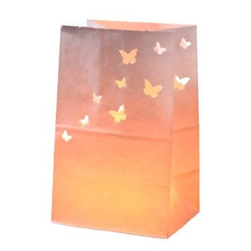 Ivory Paper Cutout Butterfly Lantern