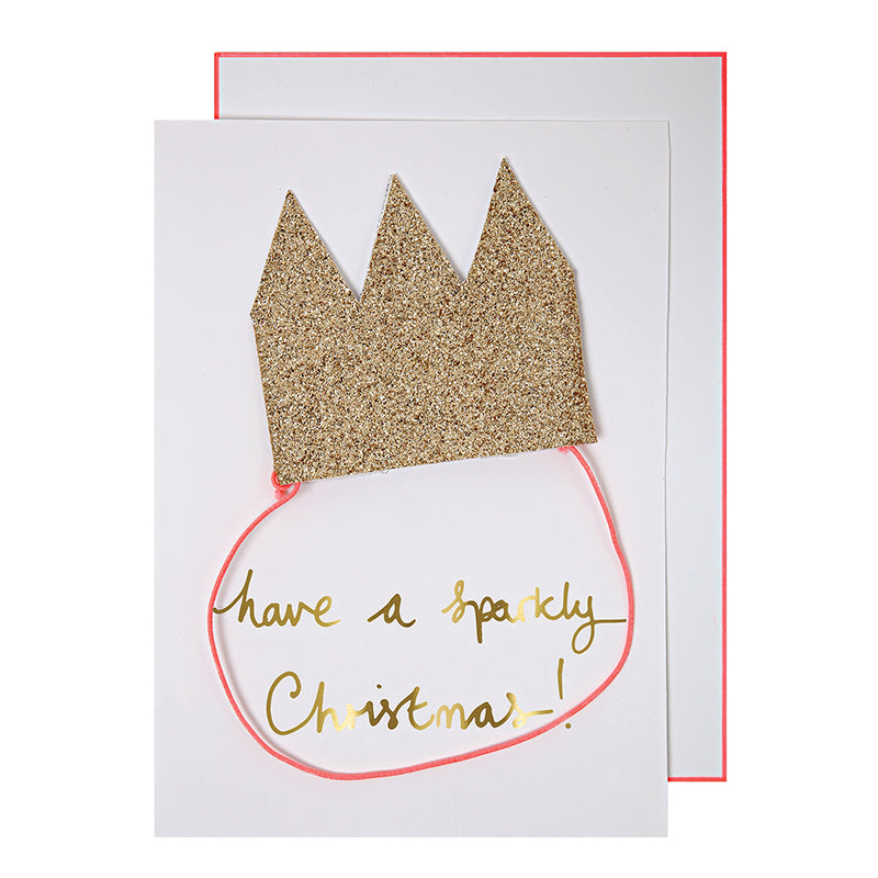 Meri Meri Pop Out Crown Christmas Card, MM-Meri Meri UK, Putti Fine Furnishings