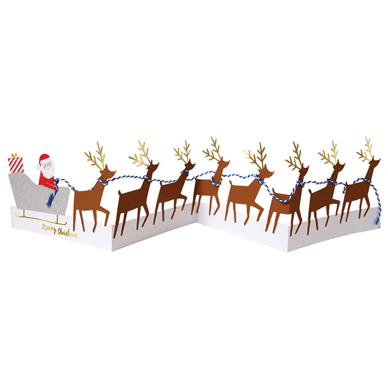 Meri Meri Concertina Reindeer Christmas Card | Putti Christmas Celebrations