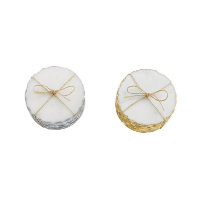 Mudpie Foiled Marble Coaster Set | Putti Fine Furnishings Canada