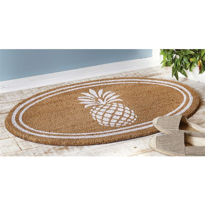 Oval Pineapple Doormat