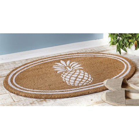 Oval Pineapple Doormat-Tableware-MP-Mud Pie-Putti Fine Furnishings