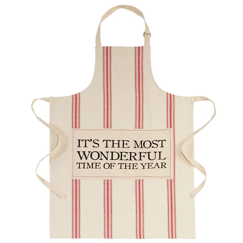 It's the Most Wonderful Time of the Year Grain Sack Apron - Putti Celebration