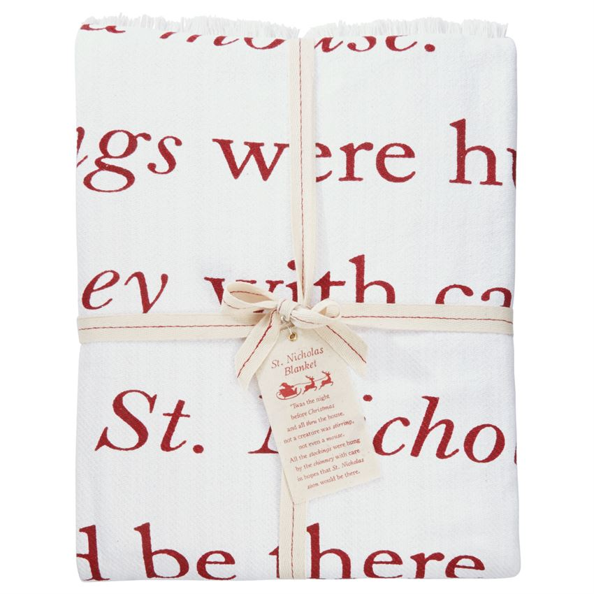 """Twas the Night Before Christmas"" Tassel Throw Blanket"