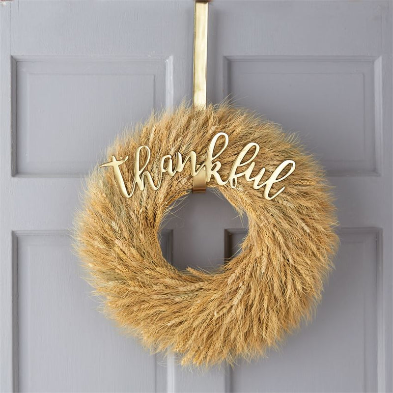 "Mudpie ""Thankful"" Wreath Hanger 