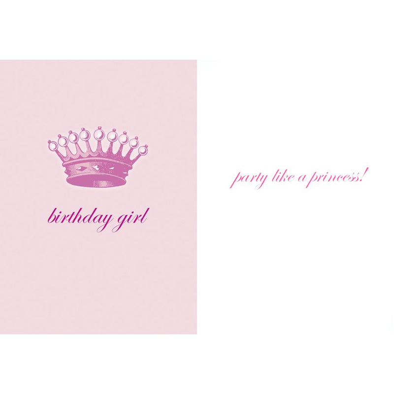 """Birthday Girl ...Party Like a Princess"" Greeting Card, Bella Flor, Putti Fine Furnishings"