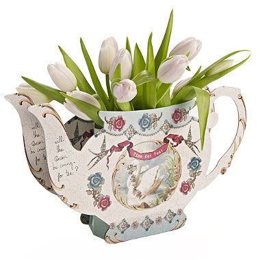 Pastries and Pearls Teapot Vase -  Party Supplies - Talking Tables - Putti Fine Furnishings Toronto Canada - 1