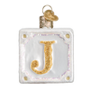 Old World Christmas Joy Block Glass Ornament, OWC-Old World Christmas, Putti Fine Furnishings