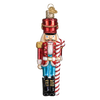 Old Word Christmas Peppermint Nutcracker Glass Ornament - Putti Canada