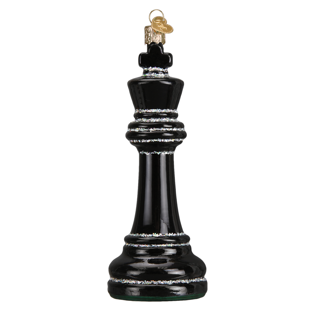 Old World Christmas Black Chess Piece Christmas Ornament, OWC-Old World Christmas, Putti Fine Furnishings