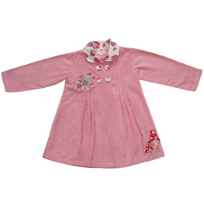 """Fairies in the Garden"" Cord Coat-Dresses-PC-Powell Craft Uk-4 to 5 years-Putti Fine Furnishings"