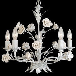 White Rose Chandelier, BI-Bethel International, Putti Fine Furnishings