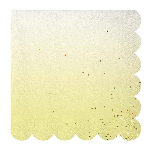 "Meri Meri ""Toot Sweet"" Ombre Large Paper Napkins -  Party Supplies - Meri Meri UK - Putti Fine Furnishings Toronto Canada - 1"
