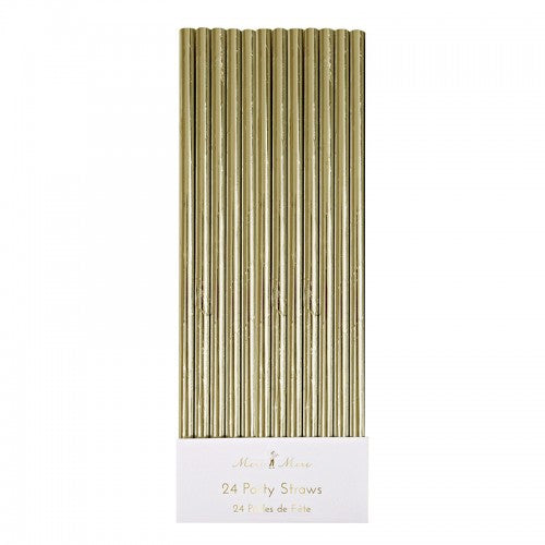 Gold Foil Straws -  Party Supplies - Meri Meri UK - Putti Fine Furnishings Toronto Canada