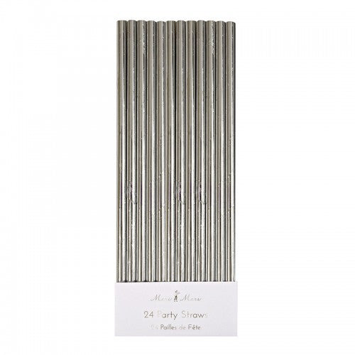 Silver Foil Straws -  Party Supplies - Meri Meri UK - Putti Fine Furnishings Toronto Canada