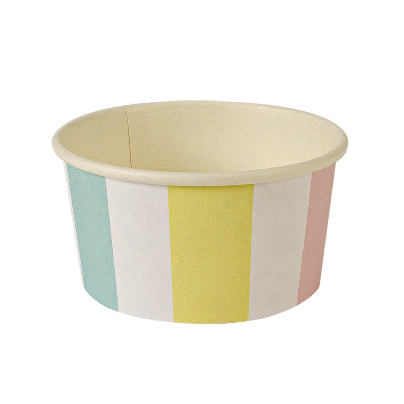 "Meri Meri ""Ice Cream Party"" Striped Ice Cream Cups, MM-Meri Meri UK, Putti Fine Furnishings"