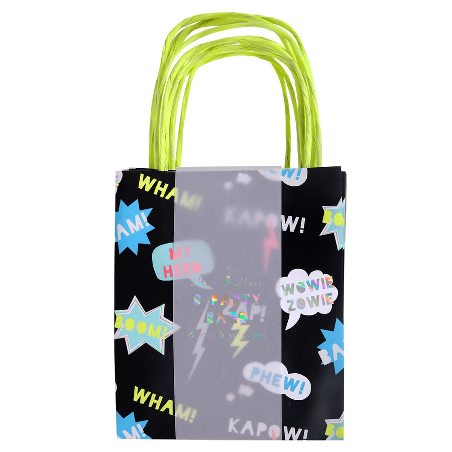 "Superhero ""Zap"" Party Bags-Party Supplies-MM-Meri Meri UK-Putti Fine Furnishings"
